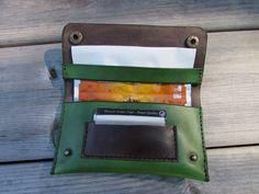 blague a tabac en cuir vert écologique : Etuis, mini sacs par monguypower