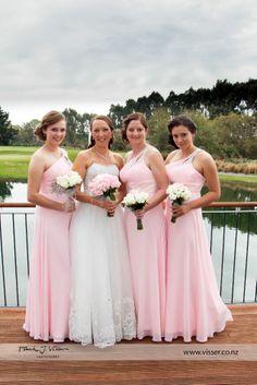 My beautiful bridesmaids, pretty in pink! x