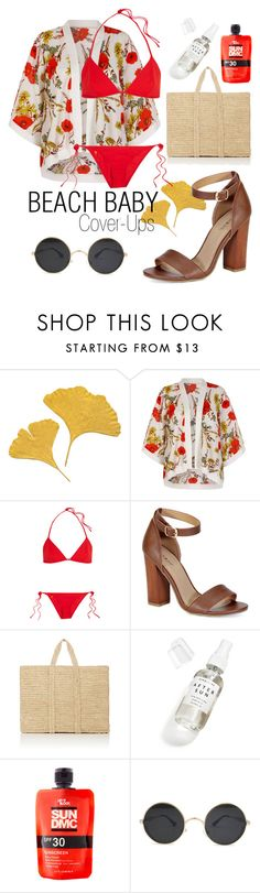 """Beach Baby ☀️"" by camryndamico ❤ liked on Polyvore featuring Yumi, Tomas Maier, Bamboo, Soeur, Herbivore and coverups"