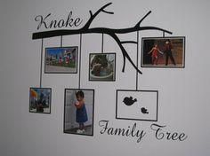 Family Photo Frame tree branch  vinyl wall by VinylDesignsByCJ, $32.95