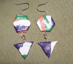 Handmade OOAK polymer clay sterling silver earrings | MarquisCreations - Jewelry on ArtFire