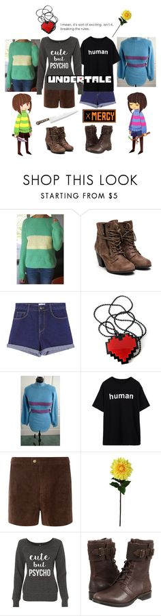 """Chara vs. Frisk (Undertale)"" by smol-snowflake ❤ liked on Polyvore featuring Dorothy Perkins, Laura Cole and UGG Australia"