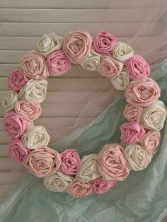 perfectly pink rose wreath