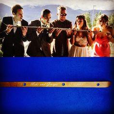 Wedding Shot Ski in Action! #wedding #shotski #drinkinggame