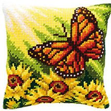 Autumn Butterfly Chunky Cross Stitch Cushion Front Kit 40x40cm Vervaco