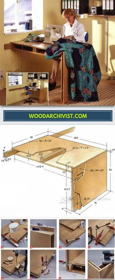 DIY Sewing Table - Furniture Plans and Projects | WoodArchivist.com