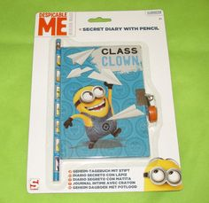 #DespicableMe #Minions Secret Diary with Pencil