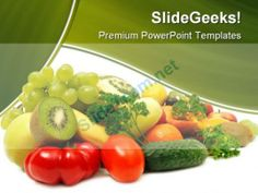 Fruits And Vegetables Food PowerPoint Backgrounds And Templates 1210  Presentation Themes and Graphics Slide01