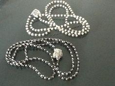 Collane in ematite, perle di acqua dolce e argento