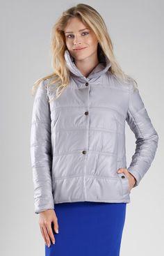 Nommo Szara pikowana kurtka NA082LP Winter Jackets, Fashion, Winter Coats, Moda, Winter Vest Outfits, Fashion Styles, Fashion Illustrations