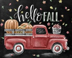 ♥ Hello Fall ♥ ♥ L I S T I N G ♥ Each image is originally hand drawn with chalk and converted digitally. Chalkboard prints maintain the authenticity and dust of the original drawing smudge free. All prints are printed on Deep Matte Fujicolor Crystal Archive Professional Paper. ♥ V A R I A T I O N ♥ Choose from red or blue color options for this particular image. ♥ F R A M I N G ♥ Frame in front of the glass of your frame for a more realistic chalkboard appearance, or frame behind the glas...