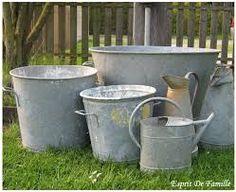 arrosoir, bassine, broc, lessiveuses en zinc