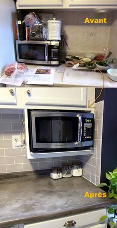 Small Kitchen Remodel and Storage Hacks on a Budget – diy kitchen decor on a budget Kitchen Remodel Small, Clutter Free Kitchen, Kitchen Design, Kitchen Countertops, Declutter Kitchen Counter, Declutter Kitchen, Budget Kitchen Remodel, Apartment Kitchen, Trendy Kitchen