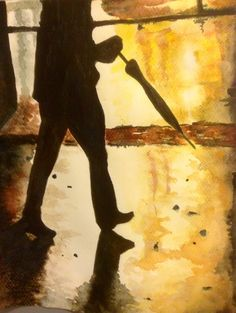 Salvatore Trovato ...camina camina (2014). Tecnica ad acquerello