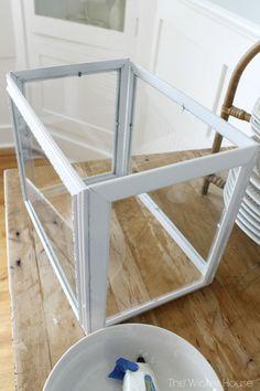 DIY Picture Frame Greenhouse Terrarium
