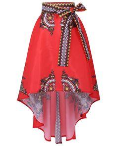 아프리카 드레스 전통적인 아프리카 의류 아프리카 국가 인쇄 큰 스윙 스커트 발목 길이 인기있는 디자인 스커트