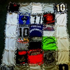 """Tshirt tie blanket inspiration for benjamin's tshirt """"quilt"""""""