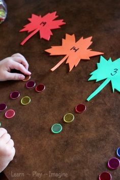 Hands on learning for preschool with a fall theme. Fall Alphabet Activities and Math Games I've finally comes to terms with the. Preschool Math Games, Montessori Math, Fall Preschool, Pre K Activities, Alphabet Activities, Autumn Activities, Preschool Seasons, Homeschool Math, Preschool Classroom