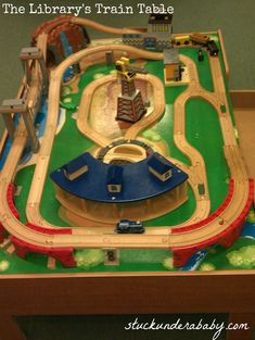 Train Table layout example