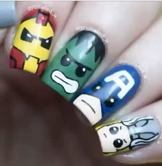 Nail Art Designs In Every Color And Style – Your Beautiful Nails Marvel Nails, Avengers Nails, Superhero Nails, Superhero Ideas, Different Types Of Nails, Queen Nails, Wedding Nails Design, Manicure Y Pedicure, Cute Nail Designs