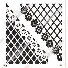 Stencil 163 - Flower Corner border negative & positive - size Cut from durable stencil material.