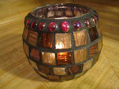 Elegant Mosaic candle holder by StarStruckMosaics on Etsy, $25.00