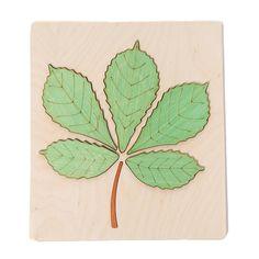 Wooden Jigsaw Puzzle - Chestnut Leaf
