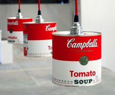 noid RA Campbells can light Can lights in metals lights with tin can Light Can Recycle Cans, Upcycle, Recycling, Luminaria Diy, Campbell's Soup Cans, Beer Cans, Luminaire Original, Deco Luminaire, Retro Lighting