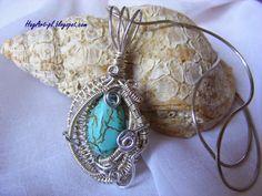 Wire wrapping: Turkusowy Howlit - kamień mądrości