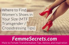 For crossdressers and MTF transgender women: Do you love sexy heels and stylish shoes? Here are the top resources for finding women's shoes that fit. Trans Mtf, Transgender Tips, Male To Female Transformation, Girl Tips, Over 50 Womens Fashion, Blonde Women, Sexy Heels, Fashion Essentials, Crossdressers