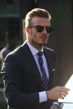 David Beckham - Fashion Icon - approves of Blue Striped Shirt under your dark suit. Get your own Thomas Light Blue Stripes shirt from Hucklebury today! http://hucklebury.com/products/the-thomas-light-blue-stripes