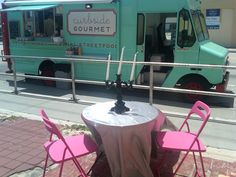 Hey! That used to be part of my food blogging job!     The Curbside Gourmet food truck in West Palm Beach gets a little ooh-la-la