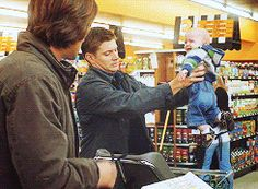 """Dean trying to understand the baby > Sam's """"... Ya, never mind"""" > Supernatural, why are you so awesome?"""