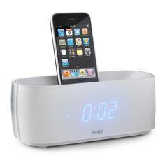 LUXUS iPOD iPHONE DOCKING STATION DENVER IFM-15 WEISS MIT BUZZER & WECKFUNKTION
