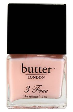 butter Nail Polish, just bought some.  Got a light color and 2 coats was all it took!
