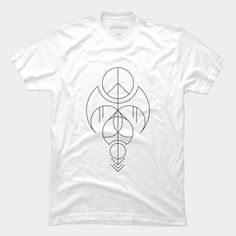 f35f36a57 The Angel Of Peace Abstract Geometric (On Bright T Shirt) T Shirt By SOMZEE