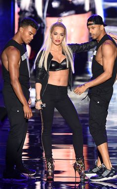 Rita Ora from The Big Picture: Today's Hot Pics Va va voom! The singer performs during the Tezenis Fashion Show in Verona, Italy.