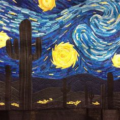 """""""Arizona Starry Night by Alicia Sterna. #quiltknitstitch"""" Photo taken by @wombatquilts on Instagram, pinned via the InstaPin iOS App! http://www.instapinapp.com (08/15/2015)"""