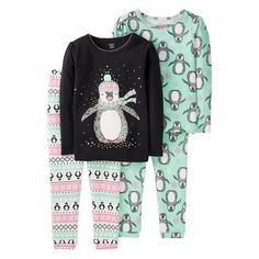 4 Piece Penguin Fairisle Cotton PJ - Just One You™Made by Carter's®