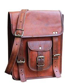 b12a1a859ff6 Vintage Leather Messenger Bag