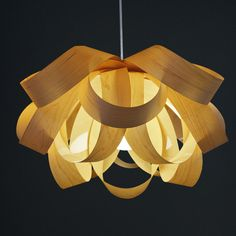 Beautiful wood veneer pendant Lamp,it is an excellent decorative lighting for interior by oaklamp on Etsy