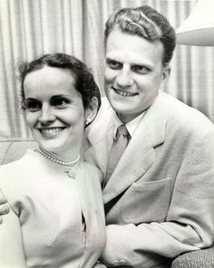1953 wheaton...Billy and Ruth Graham!