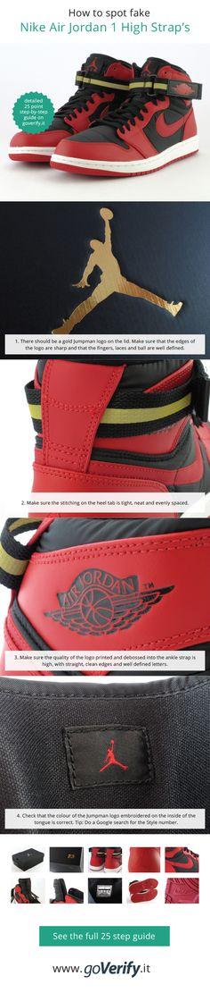 How to spot fake Nike Air Jordan 1 High Strap s 6e326df56