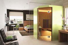 Swiss manufacturer Küng brings the sauna tradition to the living room Mini Sauna, Sauna Room, London Design Festival, Spa Design, Infrared Sauna, Ways To Relax, Room Lights, Metal Furniture, Interior Design Living Room