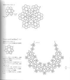 flower motif necklace tatting pattern