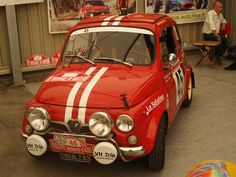 -Steyr Puch 650 TR Monte Carlo Rally Vespa, Fiat 500 Car, Monte Carlo Rally, Fiat Abarth, Steyr, Rally Car, Small Cars, Car Decals, Hot Cars
