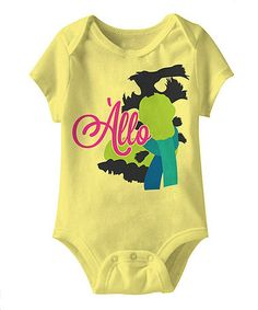 Take a look at this Banana 'Allo' Labyrinth Bodysuit - Infant by American Classics on #zulily today!