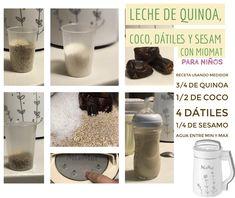 Dulce y natural leche vegetal de quinoa con MioMat