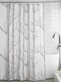 Nordic Forest Shower Curtain