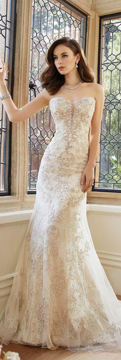 The Sophia Tolli Spring 2016 Wedding Dress Collection - Style No. Y11639 - Kyla #beadedlaceweddingdress